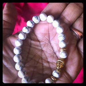 Jewelry - Howlite Buddha Bracelet (Unisex)